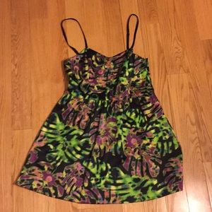 EUC Kensie palm leaf party dress, sz 8